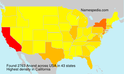 Surname Anand in USA