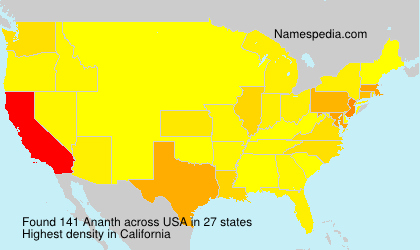 Surname Ananth in USA