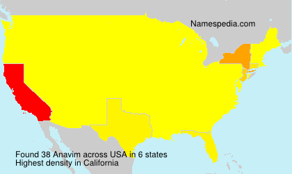 Surname Anavim in USA