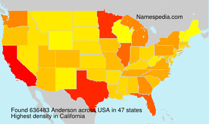 Surname Anderson in USA