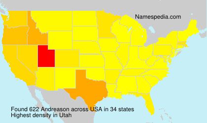 Surname Andreason in USA