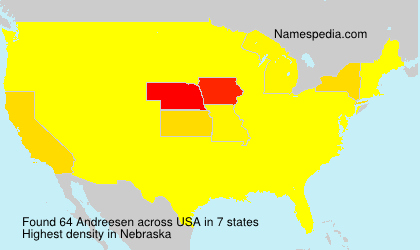 Surname Andreesen in USA