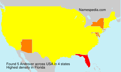 Surname Androver in USA