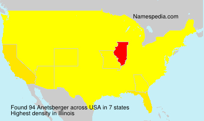 Surname Anetsberger in USA