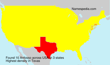 Surname Anfosso in USA