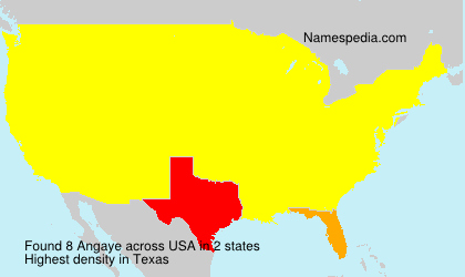 Surname Angaye in USA
