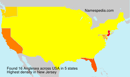 Surname Anglesea in USA