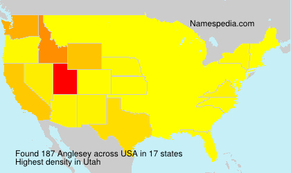 Surname Anglesey in USA