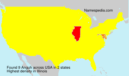 Surname Anguh in USA