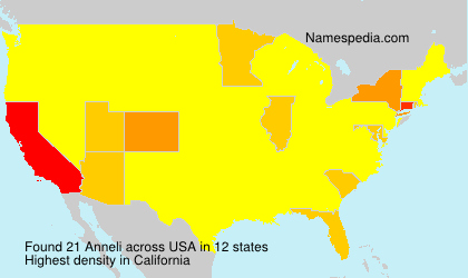 Surname Anneli in USA