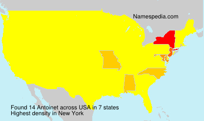 Surname Antoinet in USA