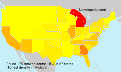 Surname Antwan in USA