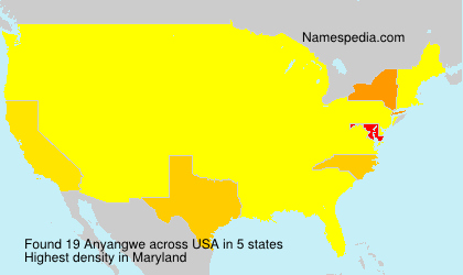 Surname Anyangwe in USA