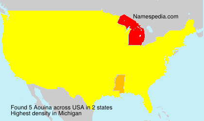 Surname Aouina in USA