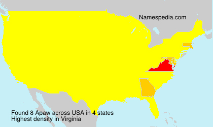 Surname Apaw in USA