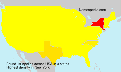 Surname Apelles in USA