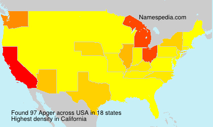 Surname Apger in USA
