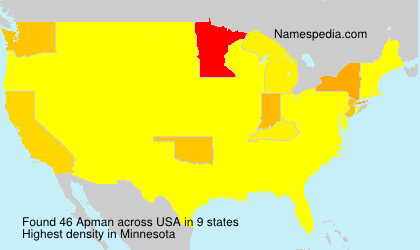 Surname Apman in USA