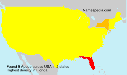 Surname Apude in USA