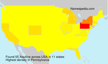 Surname Aquiline in USA