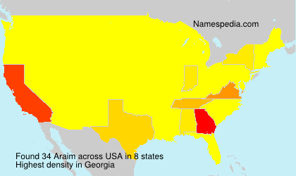 Surname Araim in USA