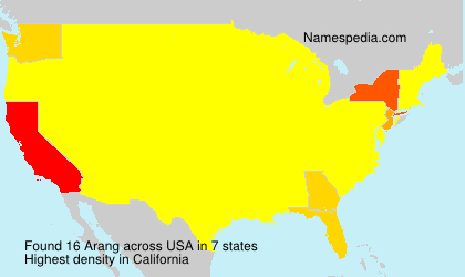 Surname Arang in USA