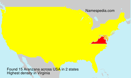 Surname Aranzana in USA