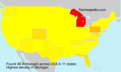 Surname Archangeli in USA