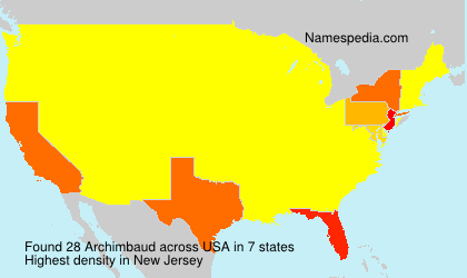 Surname Archimbaud in USA