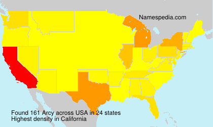 Surname Arcy in USA