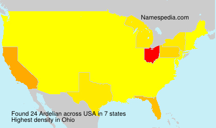 Surname Ardelian in USA