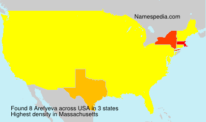 Surname Arefyeva in USA