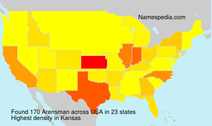 Surname Arensman in USA