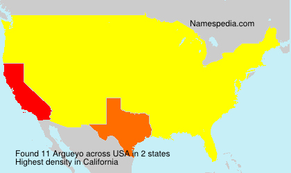 Surname Argueyo in USA