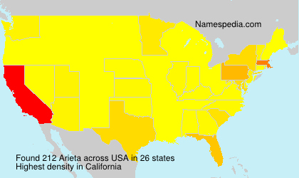 Surname Arieta in USA