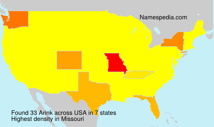 Surname Arink in USA