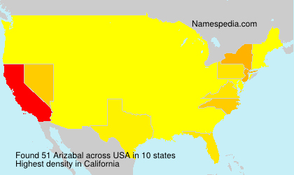 Surname Arizabal in USA