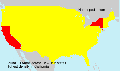Surname Arkas in USA