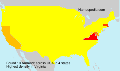 Surname Armandt in USA