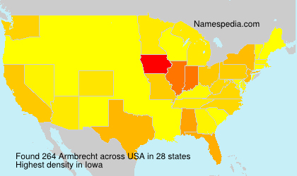 Surname Armbrecht in USA