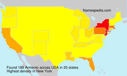 Surname Armenio in USA