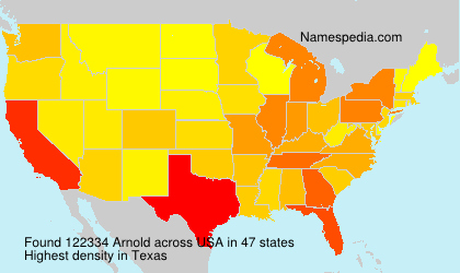 Surname Arnold in USA