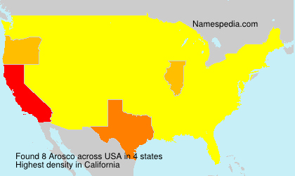 Surname Arosco in USA