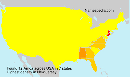 Surname Arrica in USA