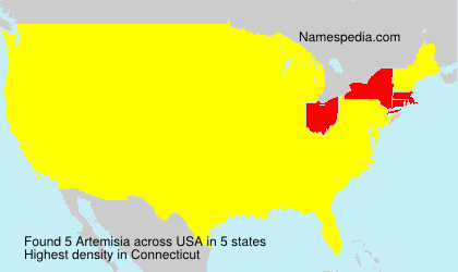 Surname Artemisia in USA