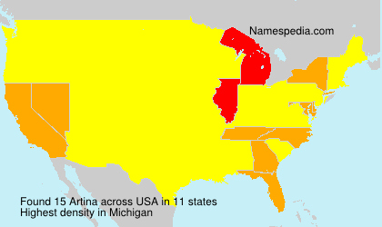 Surname Artina in USA
