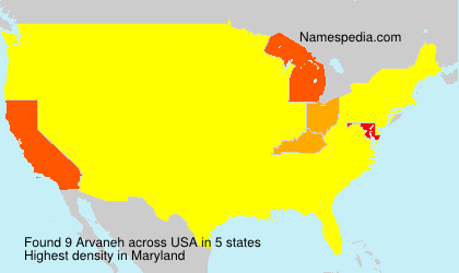 Surname Arvaneh in USA