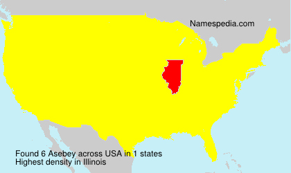 Surname Asebey in USA