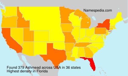 Surname Ashmead in USA
