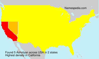 Surname Ashotyan in USA